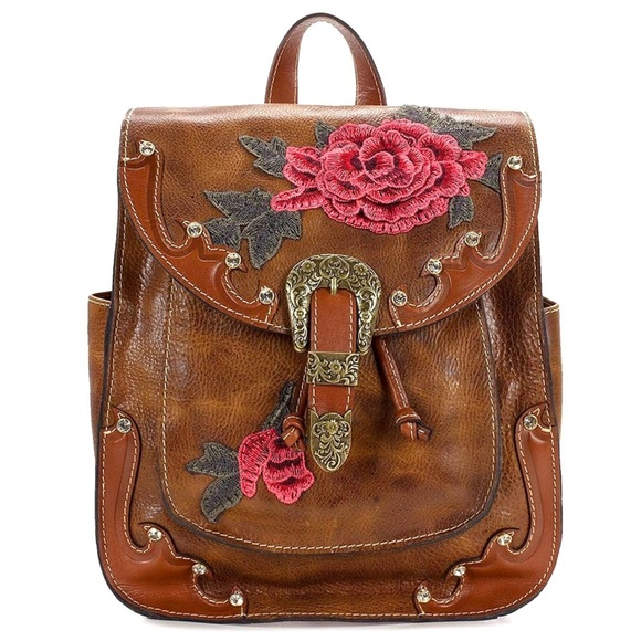 7138dc8caa84 Patricia Nash Western Jovanna Leather Backpack
